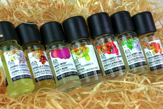 Review the body shop home fragrance oils for Best scented oils for home