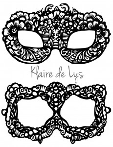 lace mask template 2