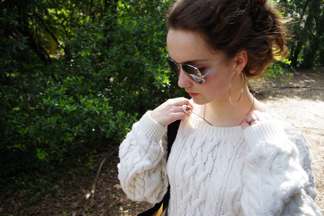 OOTD Cable knit casual