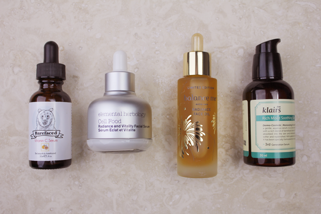 Serums Review Barefaced, Cell Food, Balance Me, Klairs