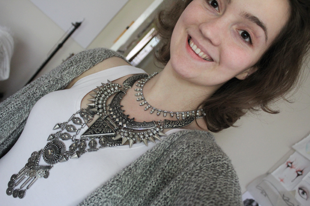 DIY Necklace Finished