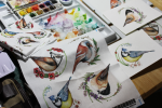 Drawing Some of My Favourite Birds (and Turning them into Fabric)