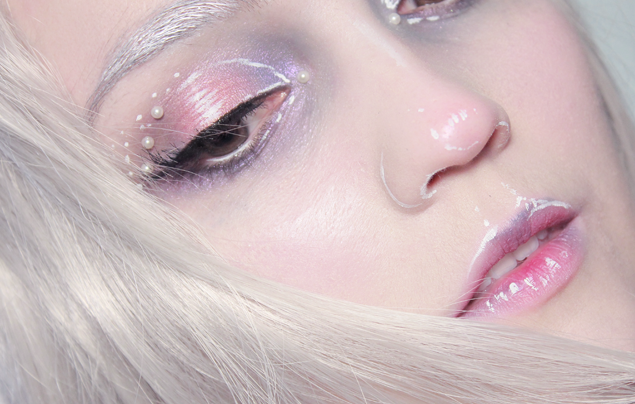Pastel Snow Queen Close up